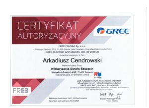Certyfikat Gree 2020